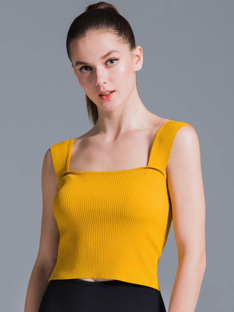 2 WAY KNIT SINGLET, GINGER