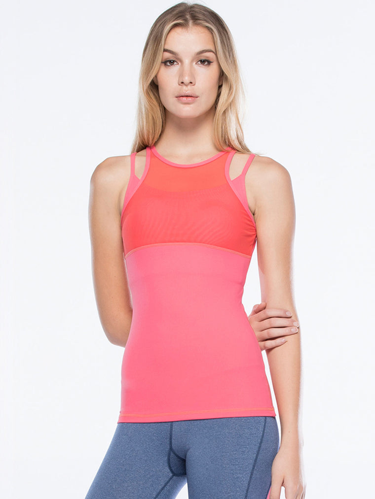 INSPIRATION TANK, WATERMELON/PINK MESH