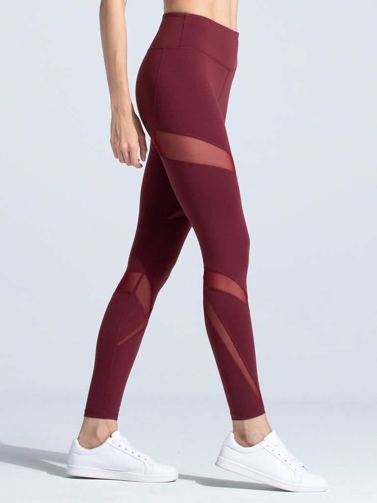 DRIFT PANTS, BORDEAUX/BORDEAUX MESH