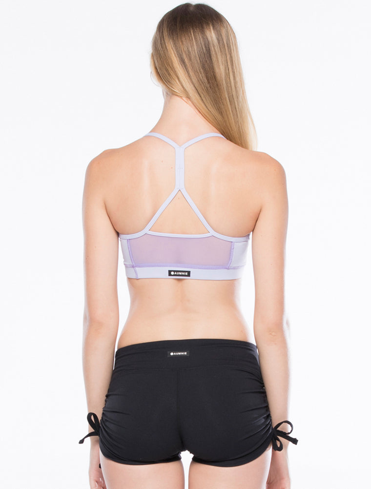 BOUNDLESS BRA, LAVENDER/PURPLE MESH