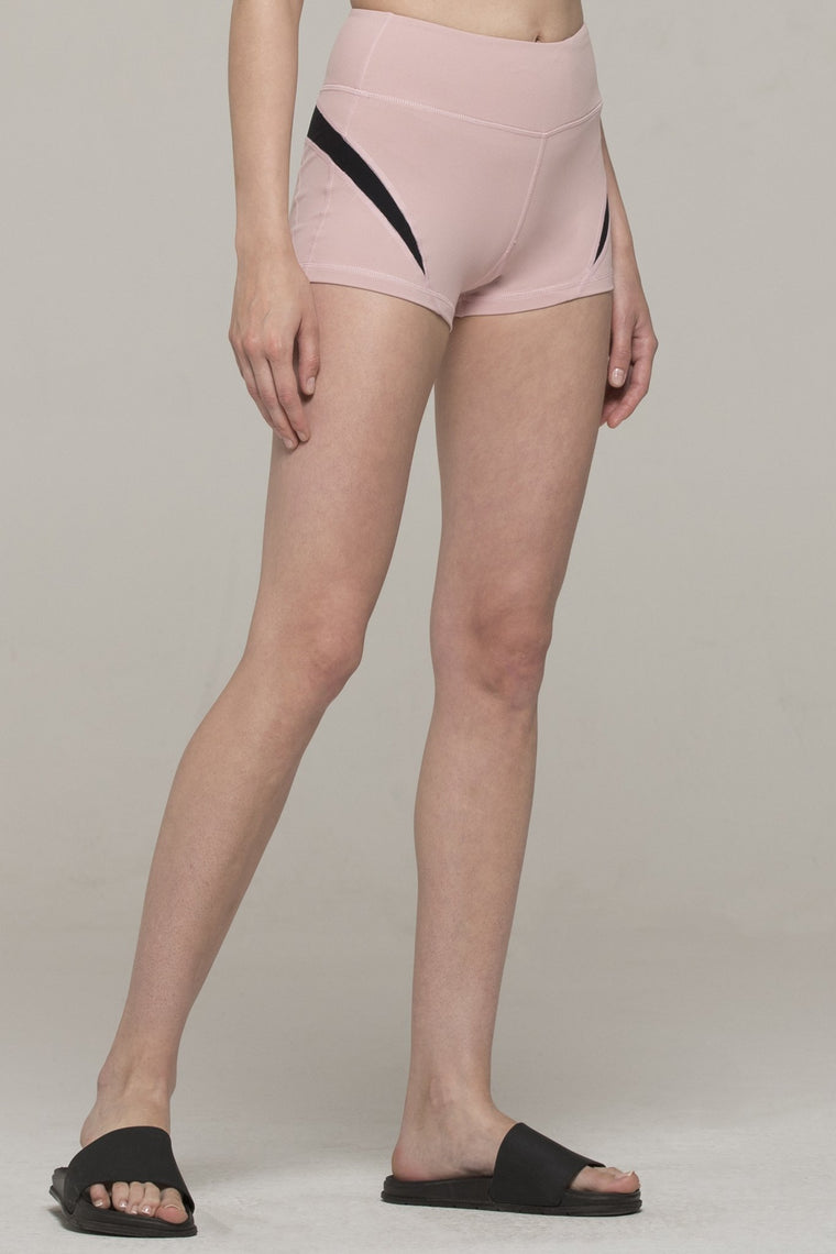 INCEPTION SHORTS, BLUSH/BLACK