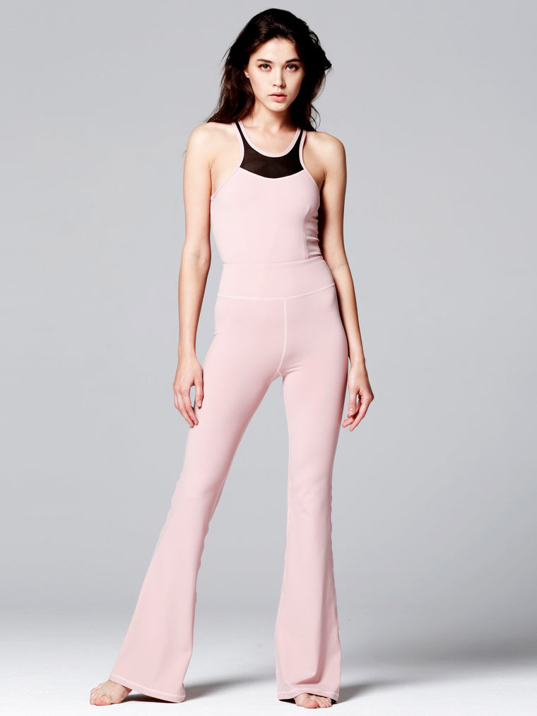 FLARED JUMPSUIT, BLUSH