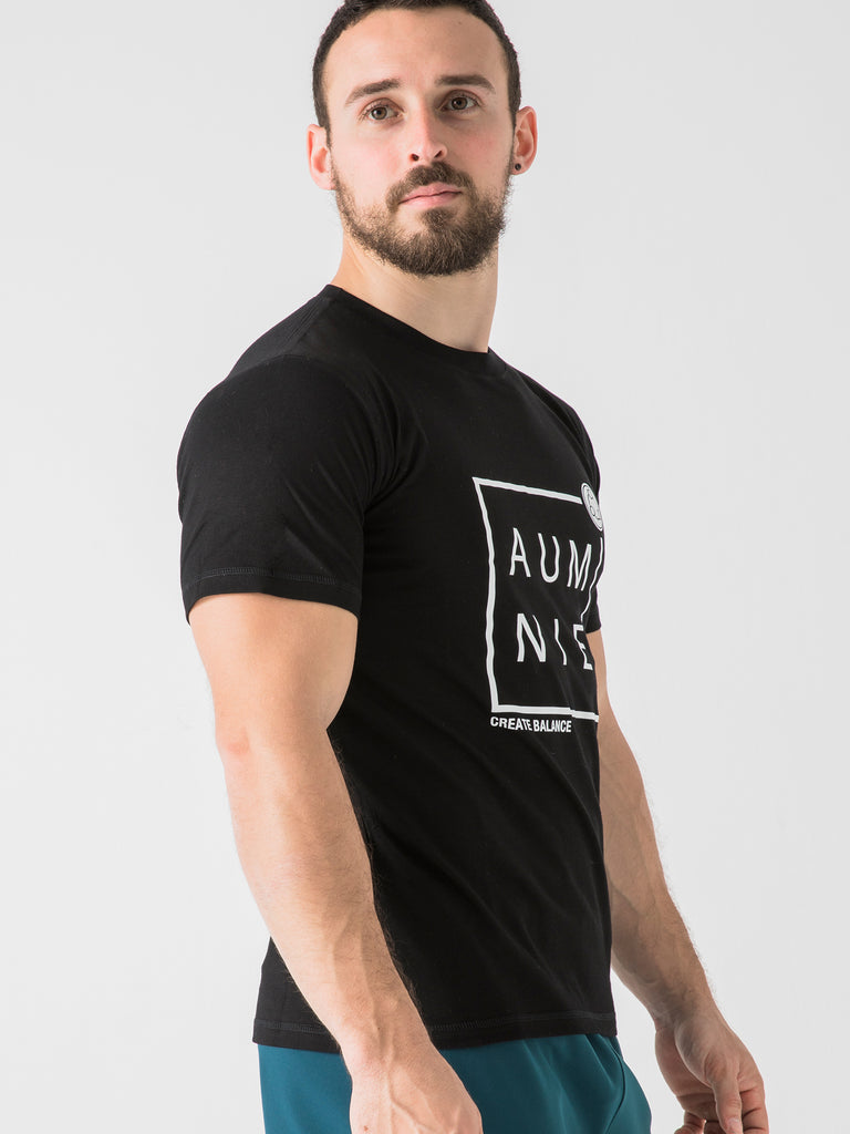 BOXED LOGO TEE, BLACK