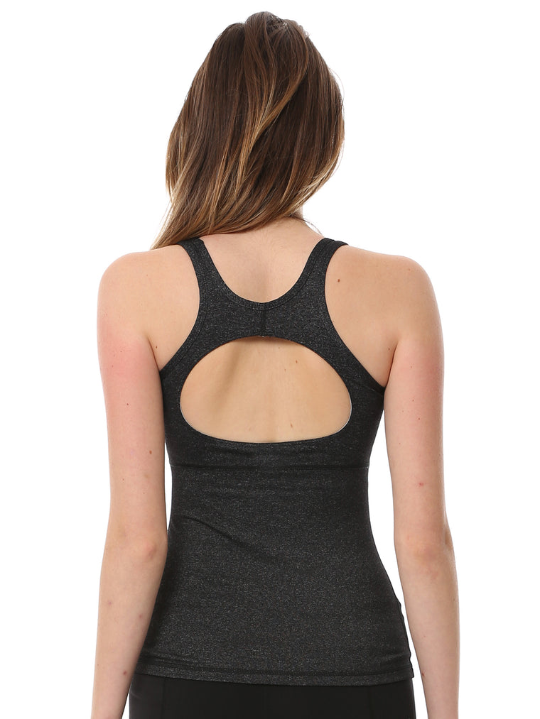 CHALLENGE TANK 2.0, HEATHER BLACK