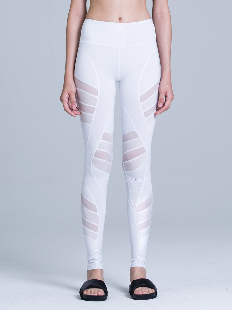 COMPETITION PANTS, WHITE/WHITE MESH