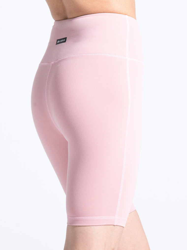 HIGH WAIST BIKER SHORTS, BLUSH