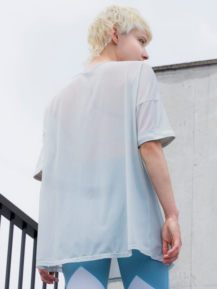 OVERSIZED MESH TEE, SEASALT