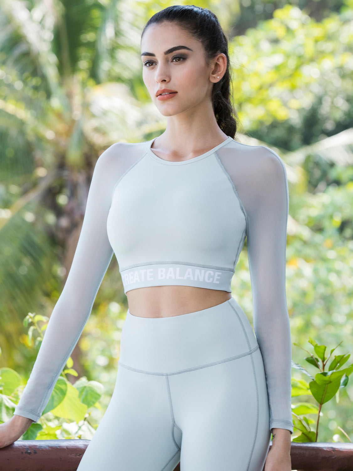 CREATION CROPPED TOP, SEASALT, SEASALT MESH