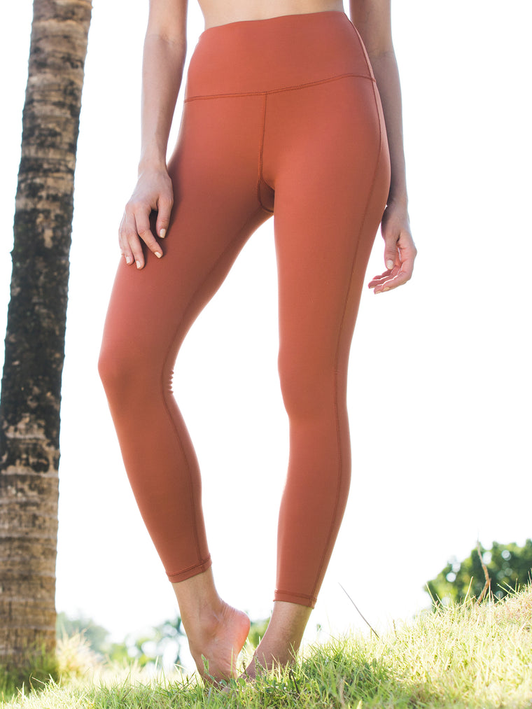 HIGH WAIST ANKLE CROPS, MAPLE
