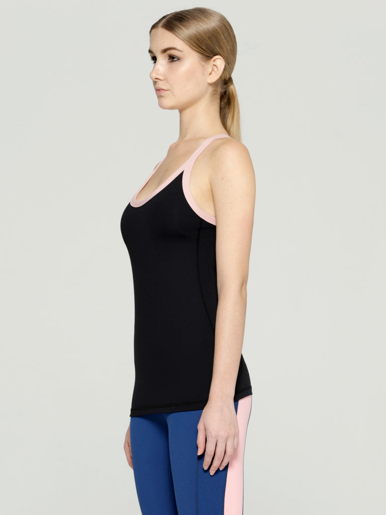 PARALLEL TANK 2.0, BLACK/BLUSH