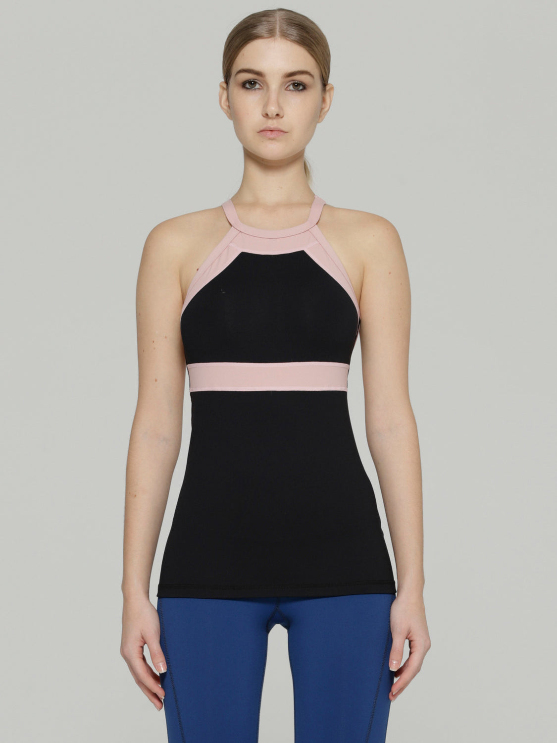 TENDENCY TANK, BLACK/BLUSH