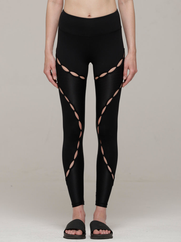 RESONANCE PANTS, BLACK/PERFORATED BLACK