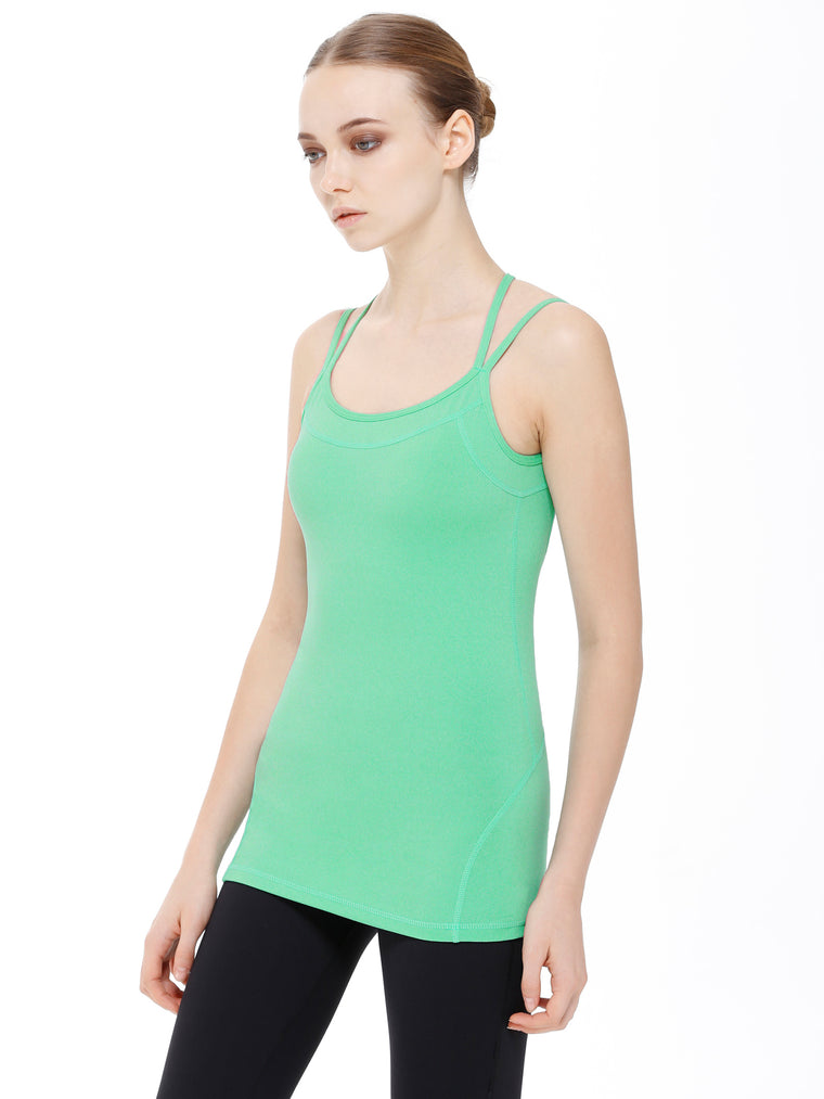 EDGE TANK, HEATHER GREEN