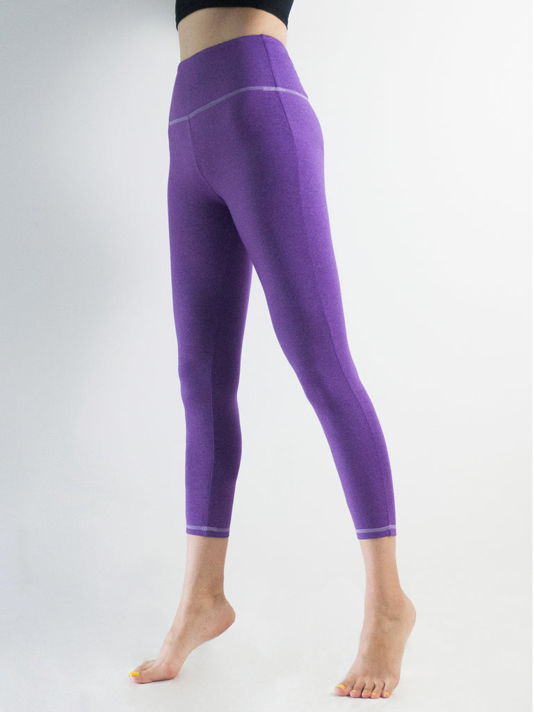 INTRO ANKLE CROPS, HEATHER PURPLE