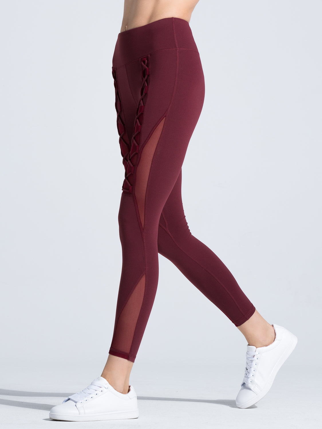 VORTEX PANTS, BORDEAUX/BORDEAUX MESH