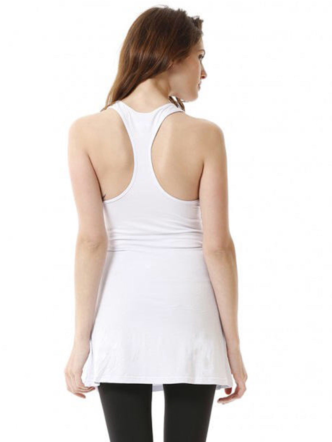 RELAXED RACER TANK, WHITE