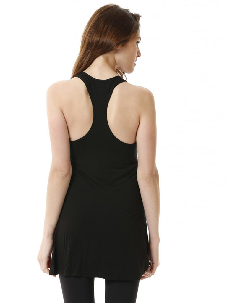 RELAXED RACER TANK, BLACK