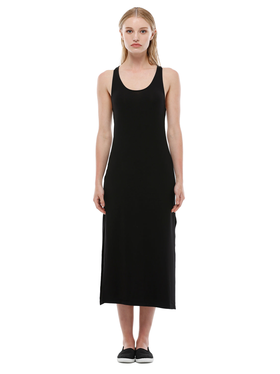 RACERBACK MAXI DRESS, BLACK