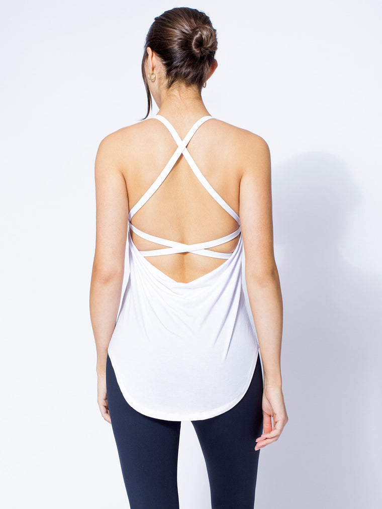 PARALLEL RUN TANK, white
