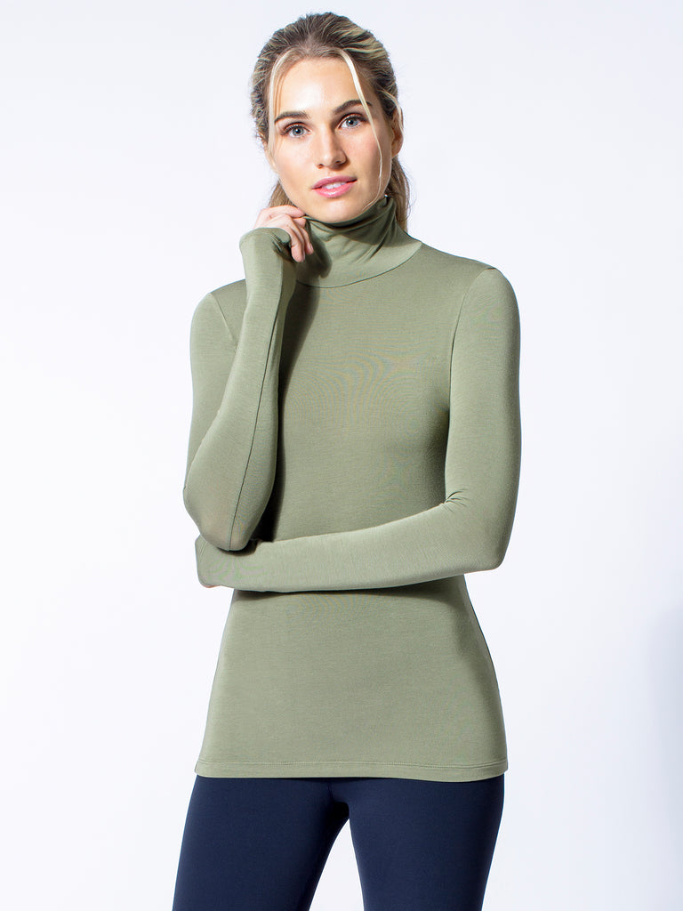 TURTLENECK TOP, SAGE