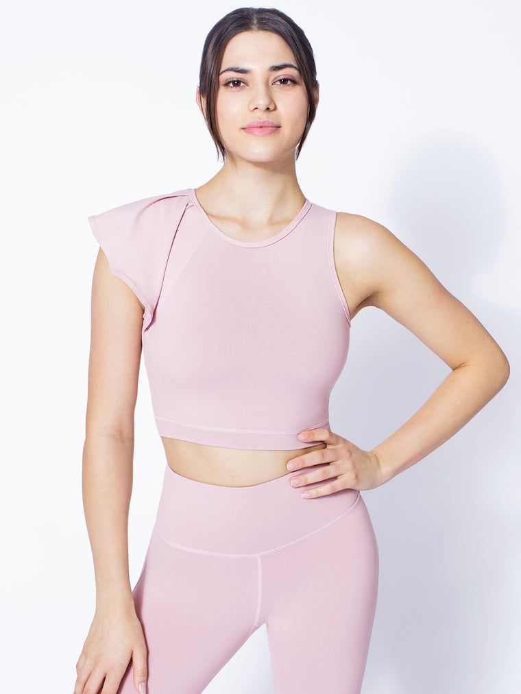 LILY CROPPED TOP, BLUSH