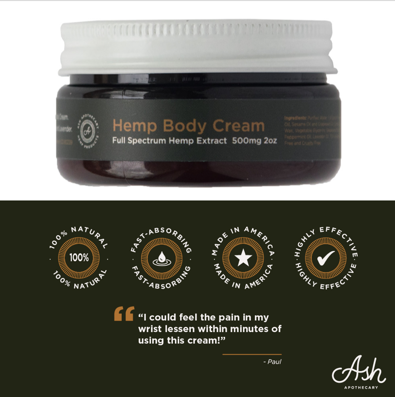 500mg Premium Full Spectrum Hemp Pain Cream