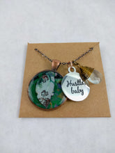 Hustle Baby Custom Artwork Pendant Necklace, Custom Gift