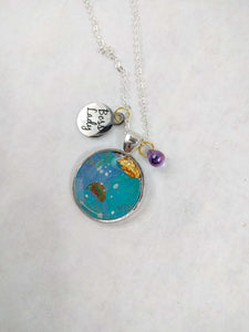 Boss Lady Custom Artwork Pendant Necklace, Custom Gift