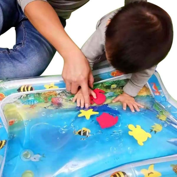 Inflatable Baby Tummy Time Water Play Mat - easeable.com