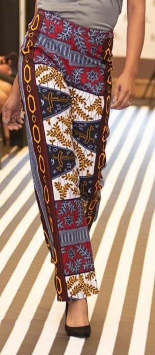 Legs of model shown wearing African Print Full Leg Pant.