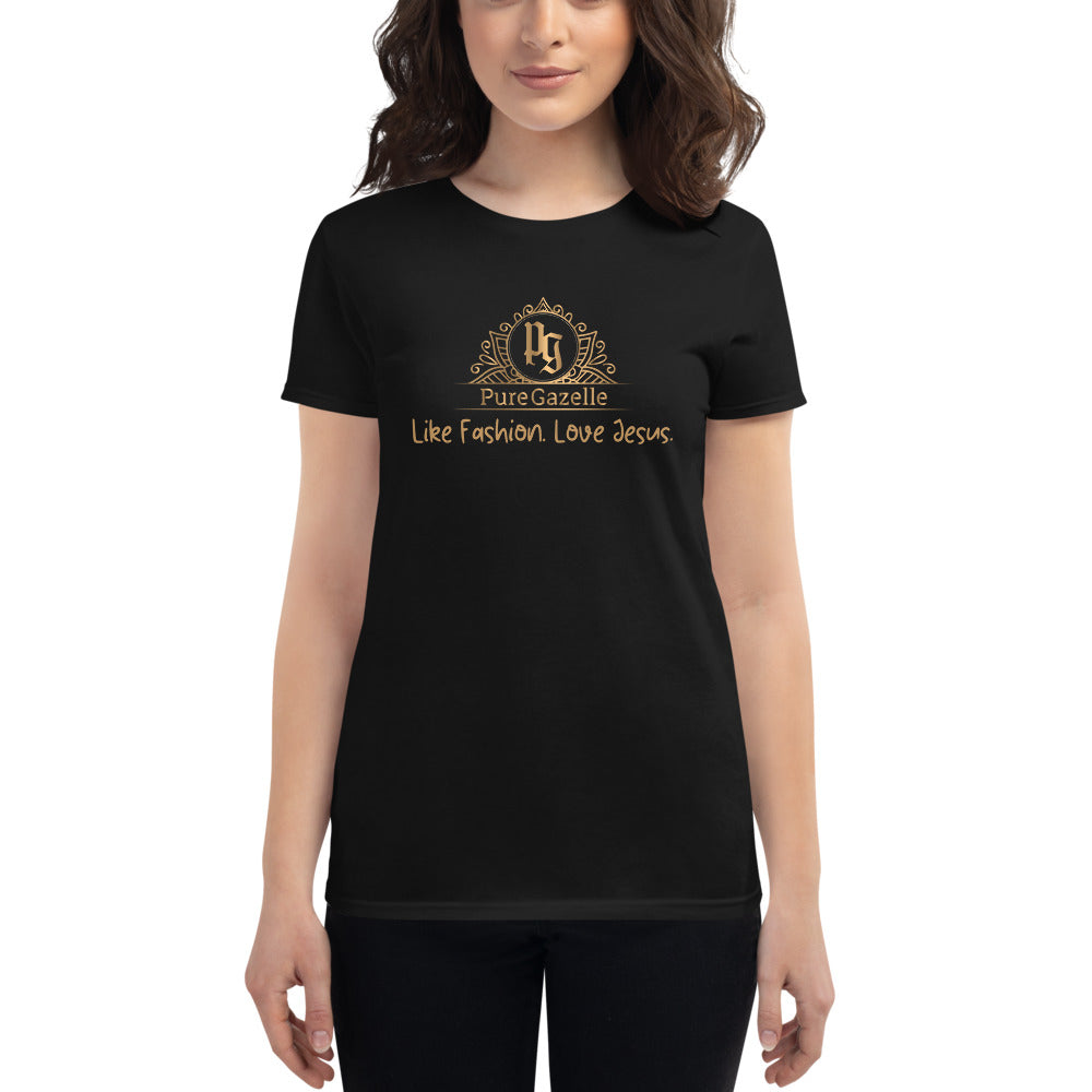 Women's short sleeve t-shirt Pure Gazelle Logo