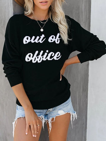 Out Of Office Black Sweaters