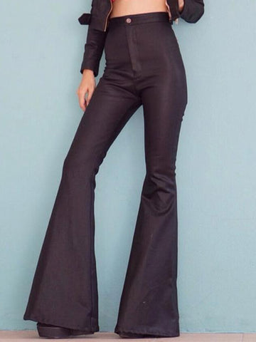 Women's Vintage Fashion High Waisted Bell Bottoms Pants