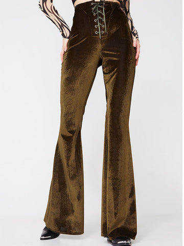 Women's Lace-up Flares Trousers