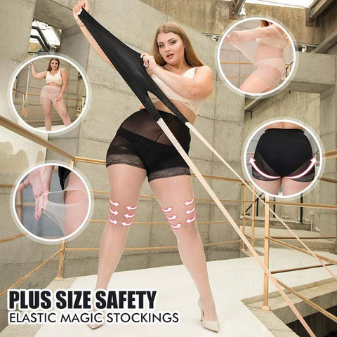 yoyoyoyoga Black/Blush / XXXXL Dual-use lace stockings