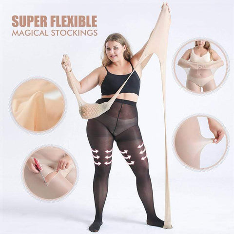 yoyoyoyoga Black / L (35KG-80KG) Super Flexible Magical Stockings