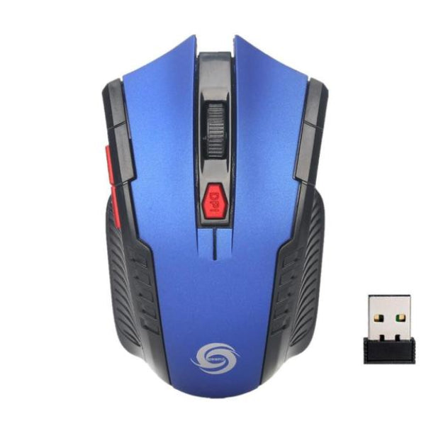 Wireless Optical Positioning Gaming 2000 DPI 6 Button Mouse