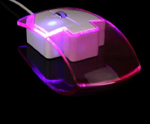 Image of Wired Gaming Optical Positioning 1600 DPI 2 Button LED Glowing Mouse