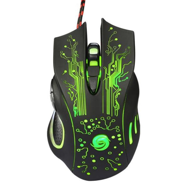 Wired Gaming Optical Positioning 5500 DPI 6 Button LED Glowing Mouse