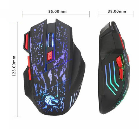 Wired Gaming Optical Positioning 7 Button 5500 DPI Mouse