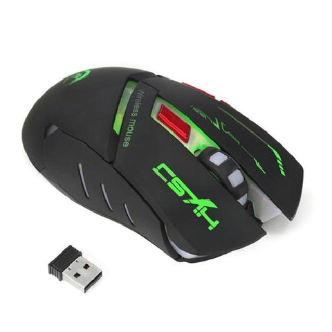 Image of Wireless Gaming Adjustable 2400 DPI 6 Button Glowing Mouse