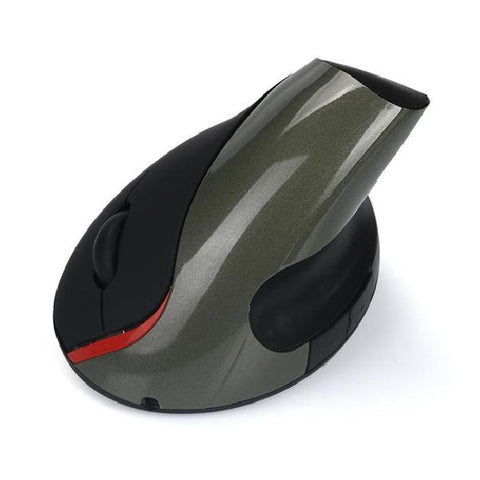 Image of Wireless Optical Positioning Ergonomic Vertical 1600 DPI 2 Button Mouse