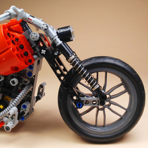 Image of 378 pc Motorcycle Block Set Toy