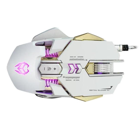 Image of Wired Gaming Optical Positioning Adjustable 3200 DPI 7 Button Glowing Mouse