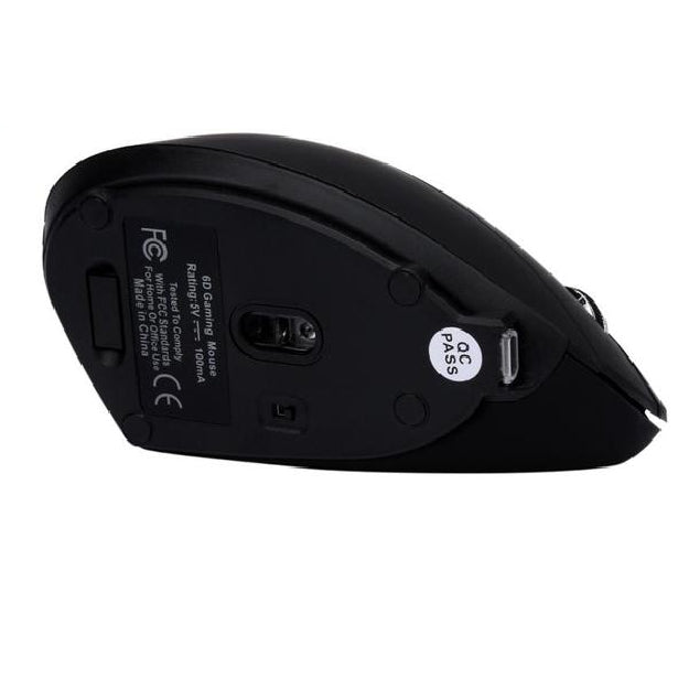 Wireless Gaming Ergonomic Vertical 1600 DPI 6 Button Mouse