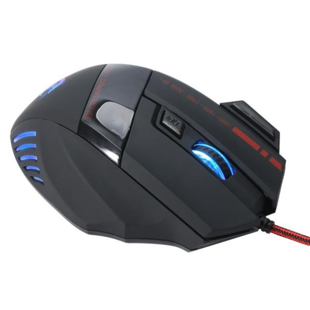 Wired Gaming Optical Positioning 3200 DPI 7 Button LED Glowing Mouse