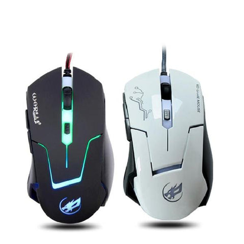 Image of Wired Gaming Optical Positioning 2400 DPI 6 Button LED Glowing Mouse