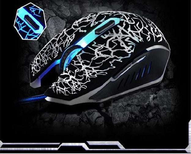 Wired Gaming Optical Positioning 4000 DPI 6 Button Glowing Mouse