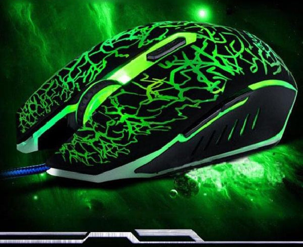 Wired Gaming Optical Positioning 4000 DPI 6 Button Luminous Glowing Mouse