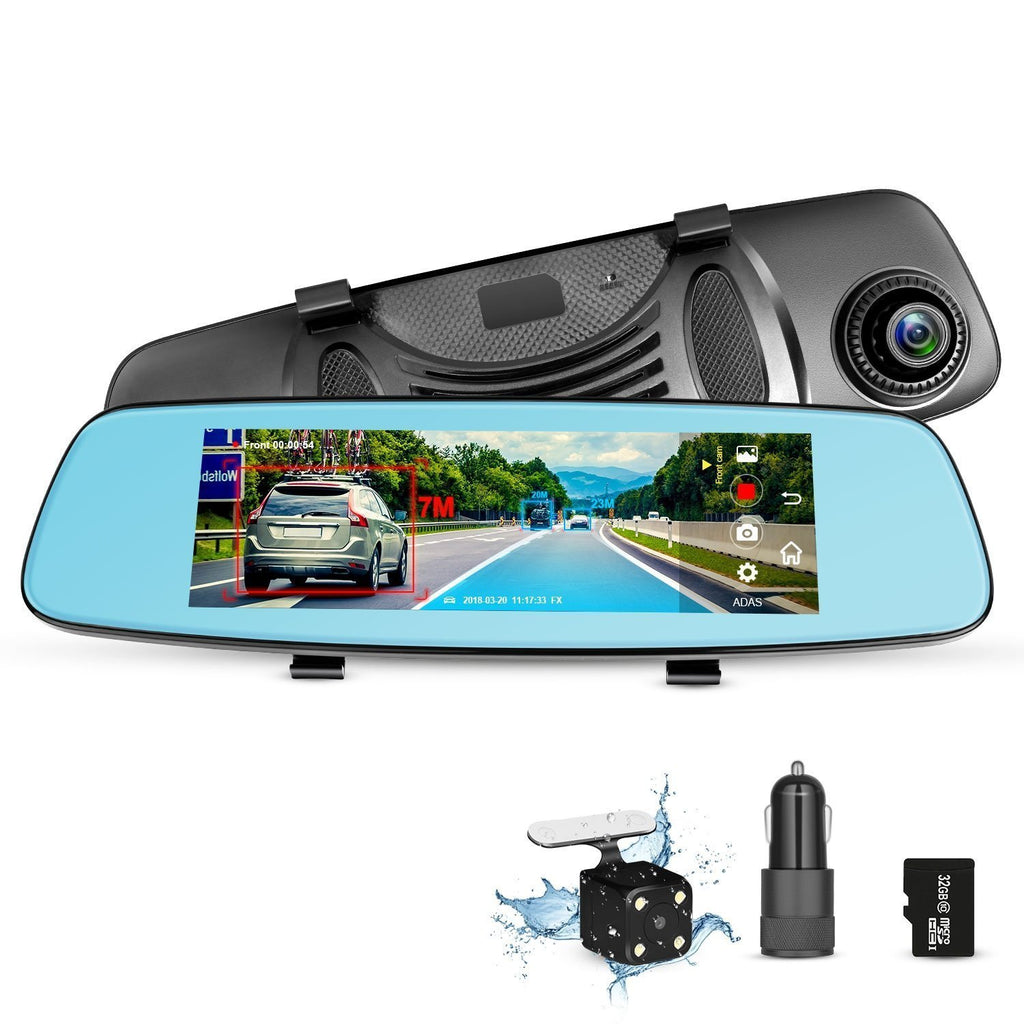 Touch Screen Digital Rear-View Mirror